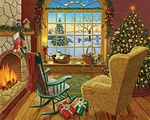 Cozy Christmas Cat-1000 piece jigsaw puzzle WMP1066