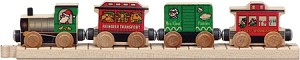Wooden Santa Train Car Set Maple Landmark 11045